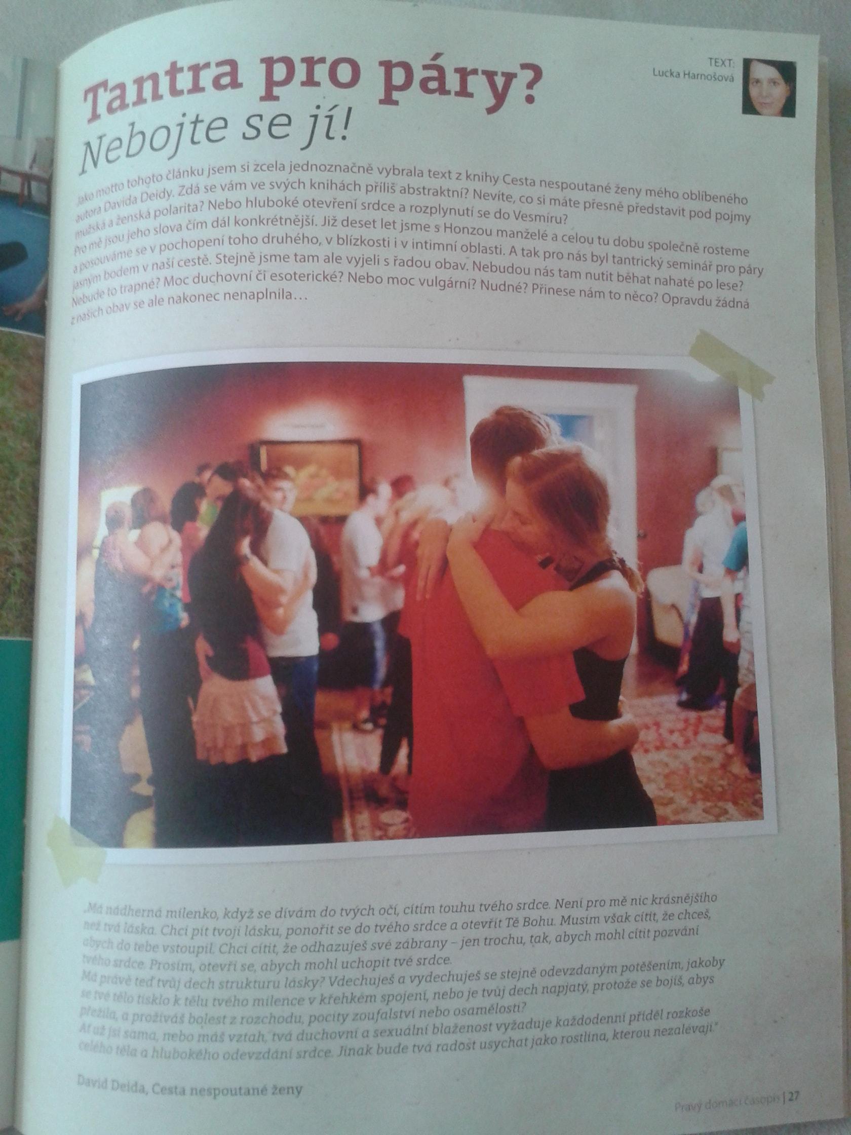 pravý domácí časopis, harnošovi, tantra 4